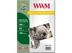 Фотопапір A4 WWM шовковистий напівглянцевий 100 аркушів (SS260.100/C)