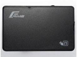 Кишеня зовнішня Frime HDD/SSD Plastic USB2.0 Black  (FHE10.25U20)
