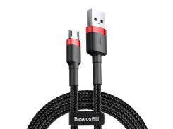 Кабель Baseus Cafule AM / Micro USB 1m Black/Red  (CAMKLF-B91)