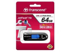 Флешка USB  Transcend JetFlash 790 64GB TS64GJF790K Black