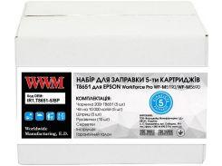Заправний набір WWM for Epson WorkForce Pro WF-M5690/WF-M5190 Black