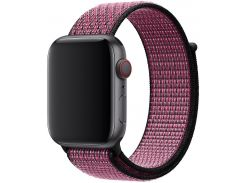 Ремінець Apple Nike Sport Loop for Apple Watch 44mm Pink Blast/True Berry  (MWU42)