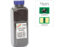 Тонер + чіп АНК for OKI B412/432/MB462 Black бутль 250g