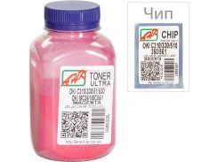 Тонер + чіп АНК for OKI C310/330/510 Magenta бутль 80g Ultra Color