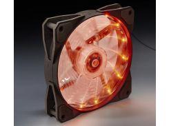 Вентилятор для корпуса Frime Iris LED Fan 15LED Orange  (FLF-HB120O15)