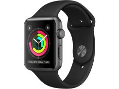 Смарт годинник Apple Watch Series 3 GPS 38mm Space Gray Aluminium Case with Black Sport Band  (MTF02)