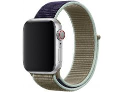 Ремінець HiC for Apple Watch 40mm -Sport Loop Midnight Blue/Olive