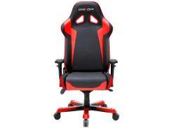 Крісло для геймерів DXRACER SENTINEL OH/SJ0/NR чорне з червоними вставками