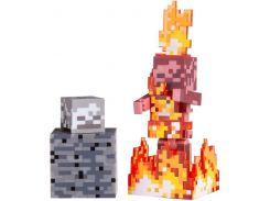 Ігрова фігурка Minecraft Skeleton on Fire, серія 4, 7cm