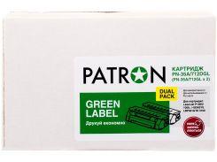 Картридж Patron HP LJ CB435A/CANON 712 Dual Pack Green Label