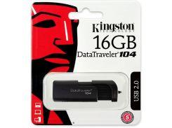 Флешка USB  Kingston DataTraveler 104 16GB DT104/16GB Black