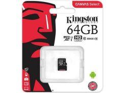 Карта пам'яті Kingston Canvas Select Micro SDXC 64GB SDCS/64GBSP