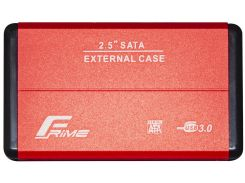 Кишеня зовнішня Frime HDD/SSD USB3.0 Red  (FHE23.25U30)
