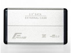 Кишеня зовнішня Frime HDD/SSD USB3.0 Silver  (FHE21.25U30)