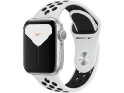 Смарт годинник Apple Watch Nike+ Series 5 GPS, 40mm Silver Aluminium Case with Pure Platinum/Black Nike Sport Band (MX3R2)