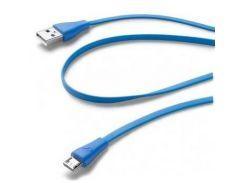 Кабель Cellular Line AM / MicroUSB Blue  (USBDATACMICROUSBB)
