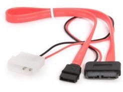 Кабель HDD Gembird SATA to SATA SlimHDD 0.35m Red (CC-SATA-C2)