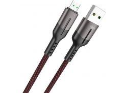 Кабель Hoco U68 4A Gusto AM / Micro USB 1m Black  (U68 Micro Black)