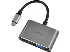 Адаптер WIWU Apollo USB-C Hub A20VH Lite Grey