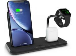 Док-станція Zens Stand Dock Watch Aluminium Wireless Charger 10W Black (ZEDC07B/00)