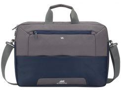 Сумка для ноутбука Riva 7757 Steel Blue/Grey