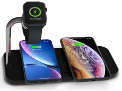 Док-станція Zens Dual Aluminium Wireless Charger plus Apple Watch Black