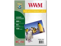 Фотопапір A4 WWM сатиновий напівглянцевий 100 аркушів (MS260.100/C)