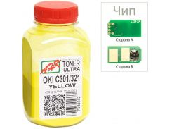 Тонер + чіп АНК for OKI C301/321 Yellow 50g