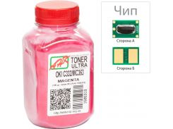 Тонер + чіп АНК for OKI C332/MC363 Magenta бутль 100g