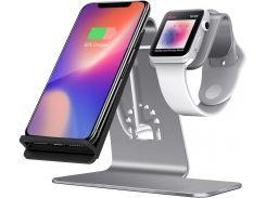 Док-станція Wireless Charge iPhone plus iWatch Gray
