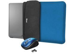 Чохол для ноутбука Trust YVO Blue+Мишка
