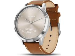 Смарт годинник Garmin Vivoactive HR Premium Silver Stainless Steel Case with Tan Italian Leather Band  (010-01850-AA)