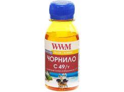 Чорнило WWM for Canon Pixma G1400/2400/3400 - Yellow 100g (C49/Y)