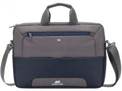 Сумка для ноутбука Riva 7737 Steel Blue/Grey