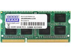 Пам'ять для ноутбука GOODRAM DDR3 1x2 ГБ (GR1600S364L11/2G)