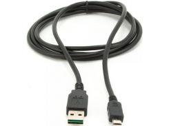 Кабель USB Cablexpert AM / MicroUSB 0.3 м Black