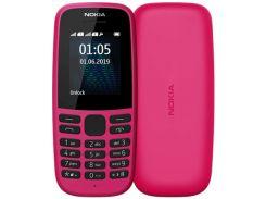 Мобільний телефон Nokia 105 2019 Pink  (105 SS 2019 Pink)