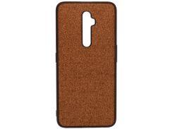 Чохол Milkin for Oppo Reno2 Z - Creative Fabric Phone Case Brown