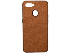 Чохол Milkin for Oppo A5s - Creative Fabric Phone Case Brown