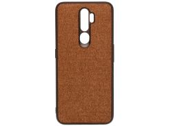 Чохол Milkin for Oppo A5 2020 - Creative Fabric Phone Case Brown