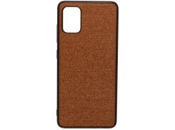 Чохол Milkin for Samsung A51 A515 2020 - Creative Fabric Phone Case Brown