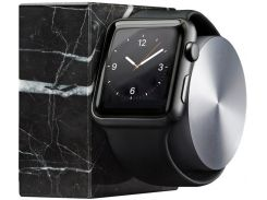 Док-станція Native Union Dock for Apple Watch - Black Marble Edition  (DOCK-AW-MB-BLK)