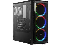 Корпус AeroCool SI-5200 RGB Black with window  (SI-5200 RGB BG)