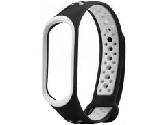 Ремінець Climber for Xiaomi Mi Band 3/4 - SPORT Black/White