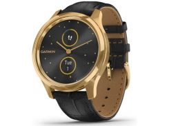 Смарт годинник Garmin Vivomove Luxe 24K Gold PVD Stainless Steel Case with Black Embossed Italian  (010-02241-22/02)