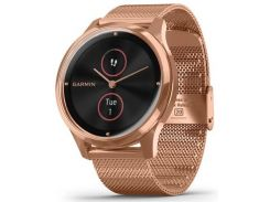 Смарт годинник Garmin Vivomove Luxe 18K Rose Gold PVD Stainless Steel Case with Rose Gold Milanese  (010-02241-24/04)