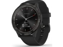 Смарт годинник Garmin Vivomove 3 Slate Stainless Steel Bezel with Black Case and Silicone Band  (010-02239-01)