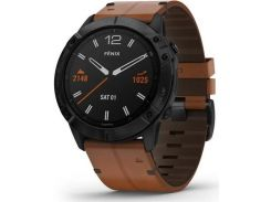 Смарт годинник Garmin Fenix 6X Pro Sapphire Black DLC with Chestnut Leather Band  (010-02157-14/13)