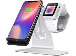 Док-станція Bestand Wireless Charge iPhone plus iWatch Silver