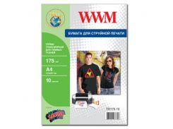 Папір термотрансферний A4 WWM  10 аркушів (TD175.10)